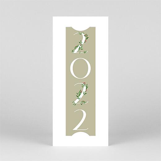 Carte de voeux Année fleurie (photomaton) beige - Vue 2