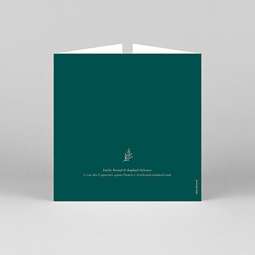 Faire-part de mariage Ronde des prés simple (fenêtre) vert - Vue 3