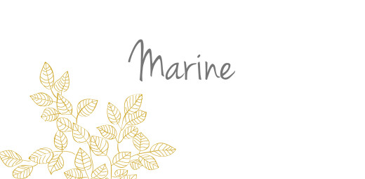 Marque-place mariage Délicatesse jaune
