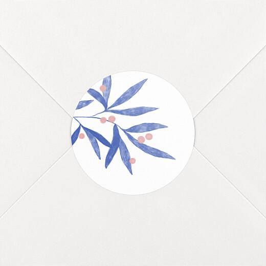 Stickers pour enveloppes naissance Laurier rose - Vue 2