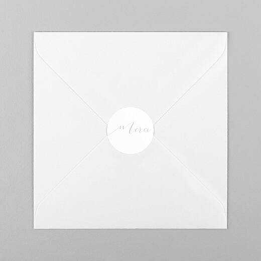 Stickers pour enveloppes mariage Merci blanc - Vue 1