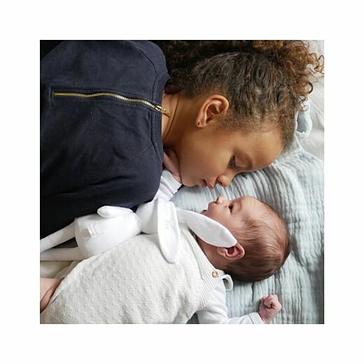 Faire-part de naissance Instant en famille (4 pages) blanc - Page 2
