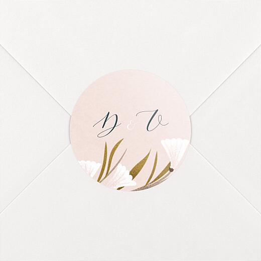 Stickers pour enveloppes mariage Daphné printemps - Vue 2