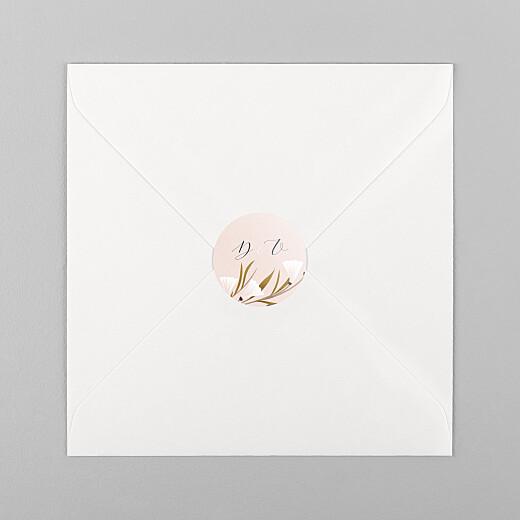 Stickers pour enveloppes mariage Daphné printemps - Vue 1