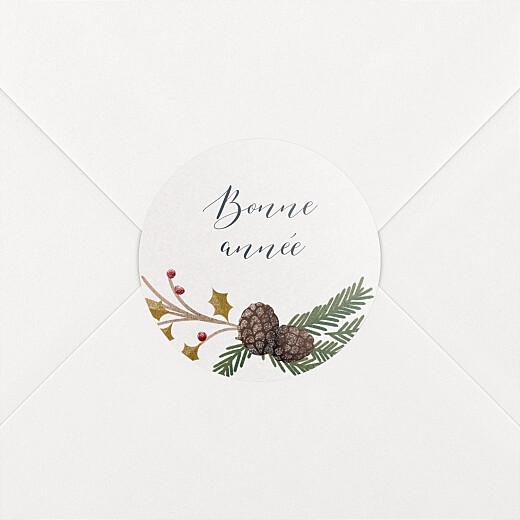 Stickers pour enveloppes vœux Daphné blanc - Vue 2