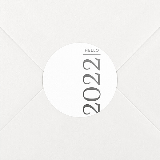 Stickers pour enveloppes vœux Happy year hello - Vue 2