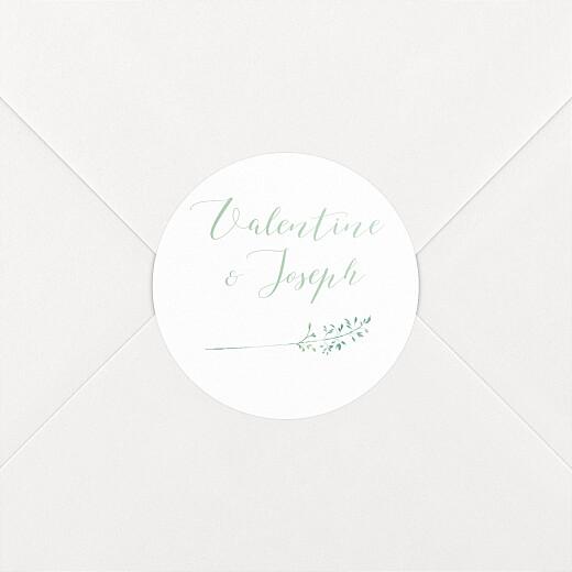 Stickers pour enveloppes mariage Les hautes herbes vert - Vue 2