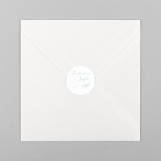 Stickers pour enveloppes mariage Les hautes herbes vert - Vue 1