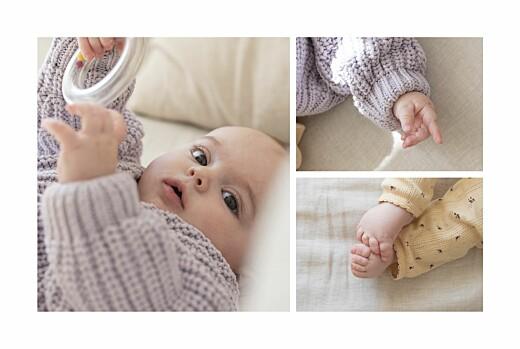 Faire-part de naissance Instant champêtre (4 pages) blanc - Page 2