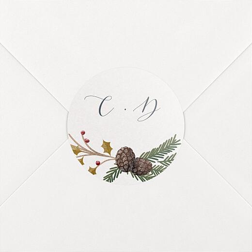 Stickers pour enveloppes baptême Daphné hiver - Vue 2