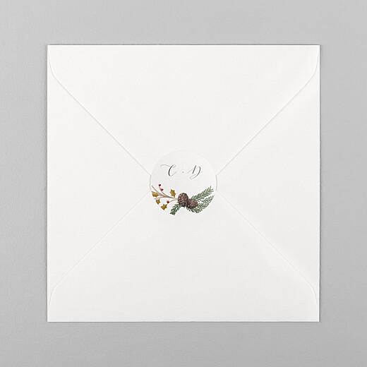Stickers pour enveloppes baptême Daphné hiver - Vue 1