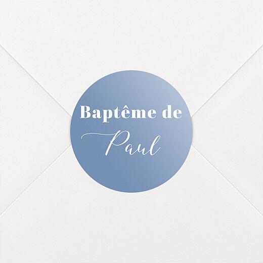 Stickers pour enveloppes baptême Classique bleu - Vue 2