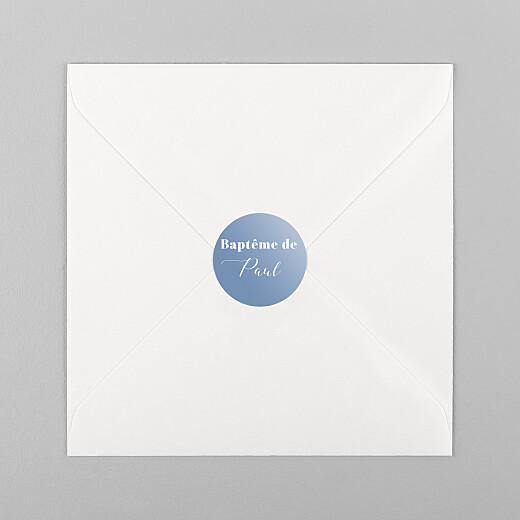 Stickers pour enveloppes baptême Classique bleu - Vue 1