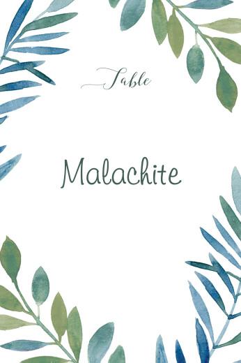 Marque-table mariage Belle saison bleu