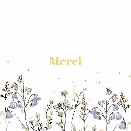 Carte de remerciement Instant champêtre blanc