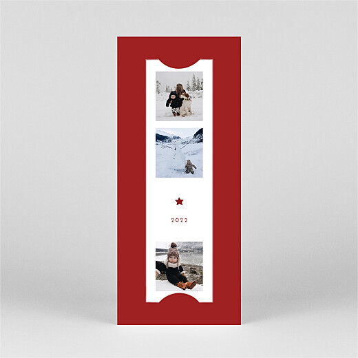 Carte de voeux Elegant étoile (marque-page) rouge - Vue 2