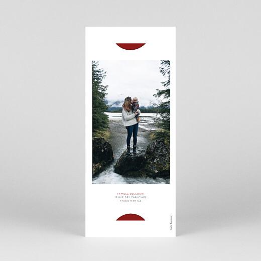 Carte de voeux Elegant étoile (marque-page) rouge - Vue 4