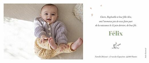 Faire-part de naissance Instant en balade (panoramique) blanc - Page 2