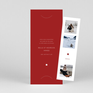 Carte de voeux Elegant étoile (marque-page) rouge