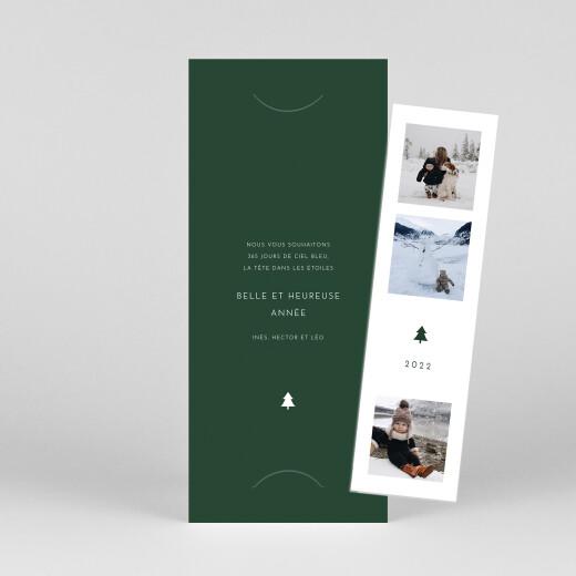 Carte de voeux Elegant sapin (marque-page) vert - Vue 1