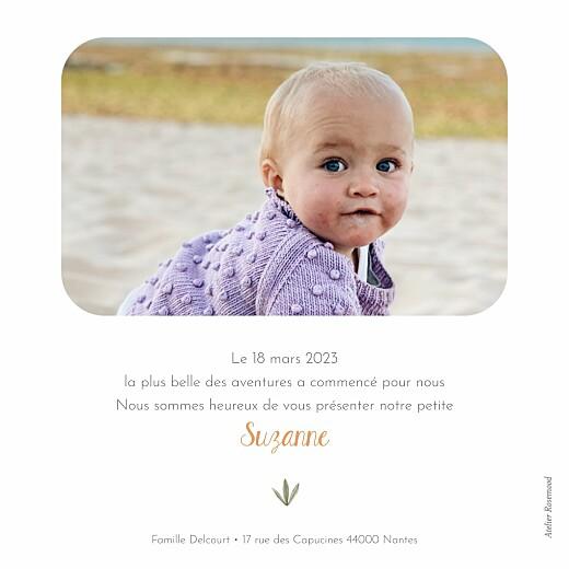 Faire-part de naissance Petite oasis beige - Page 2