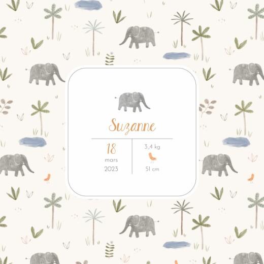 Faire-part de naissance Petite oasis beige