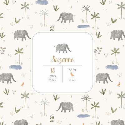 Faire-part de naissance Petite oasis beige finition