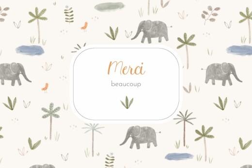 Carte de remerciement Petite oasis