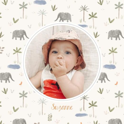 Faire-part de naissance Petite oasis (4 pages) beige