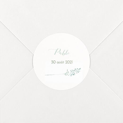 Stickers pour enveloppes baptême Les hautes herbes vert - Vue 2
