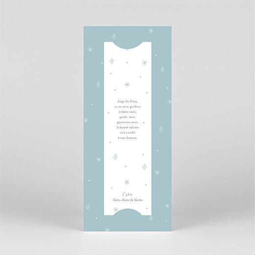 Faire-part de communion Douce colombe (marque-page) bleu - Vue 3