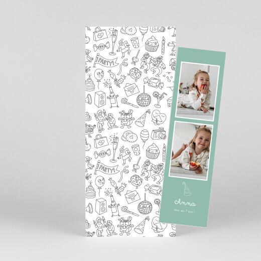 Carte d'anniversaire À colorier ! by omy (marque-page) blanc - Vue 1