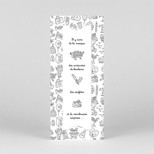 Carte d'anniversaire À colorier ! by omy (marque-page) blanc - Vue 3