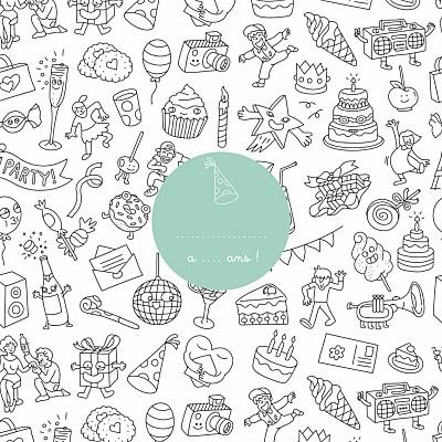Carte d'anniversaire À colorier ! by omy blanc finition