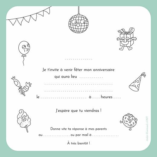 Carte d'anniversaire À colorier ! by omy blanc - Page 2