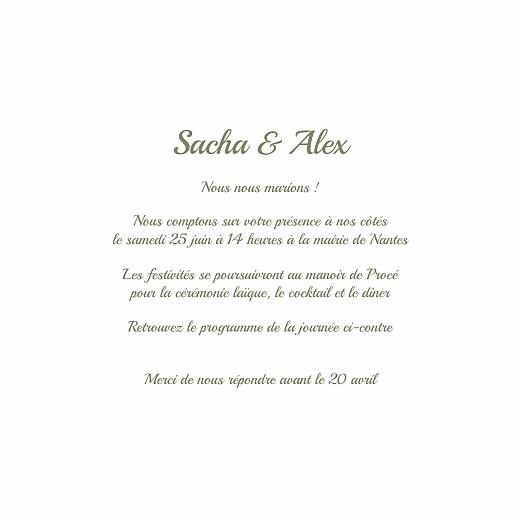 Faire-part de mariage Votre mariage en pictos (4 pages) - Page 3