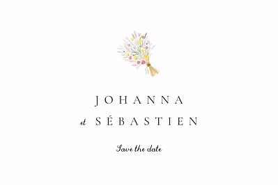 Save the Date Notre mariage illustré finition