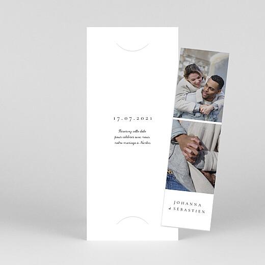 Save the Date Notre mariage illustré (marque page) blanc - Vue 1