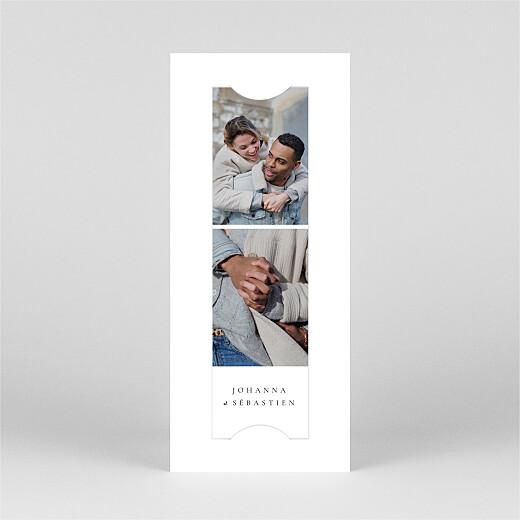 Save the Date Notre mariage illustré (marque page) blanc - Vue 2