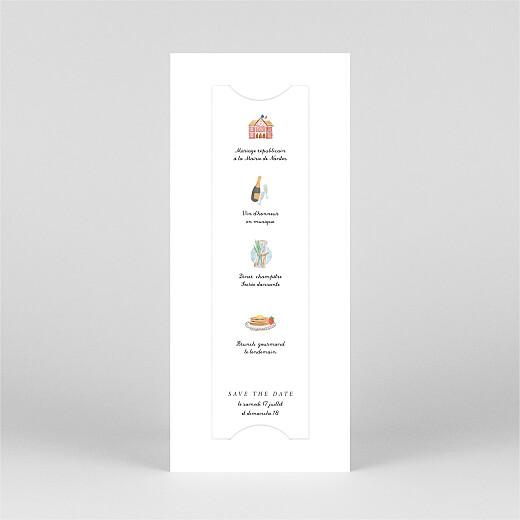 Save the Date Notre mariage illustré (marque page) blanc - Vue 3