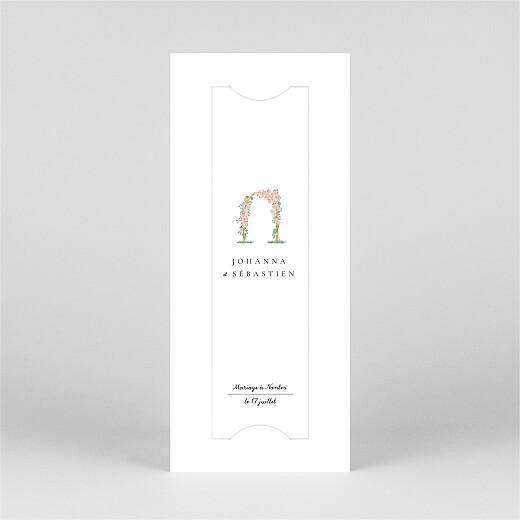 Faire-part de mariage Notre mariage illustré (marque page) blanc - Vue 2