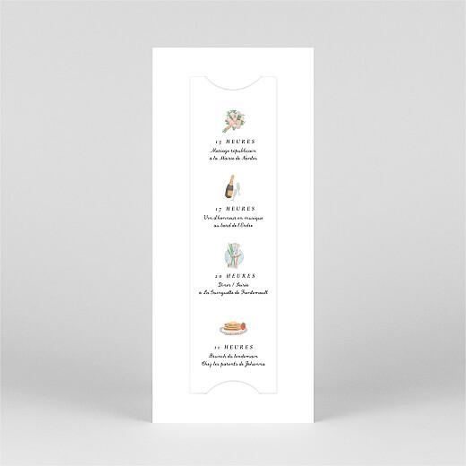 Faire-part de mariage Notre mariage illustré (marque page) blanc - Vue 3