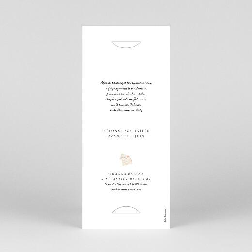 Faire-part de mariage Notre mariage illustré (marque page) blanc - Vue 4