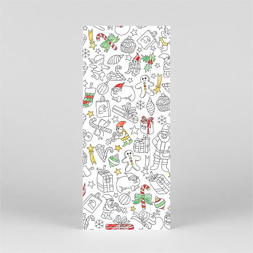 Carte de voeux À colorier ! by omy (marque-page) blanc - Vue 3