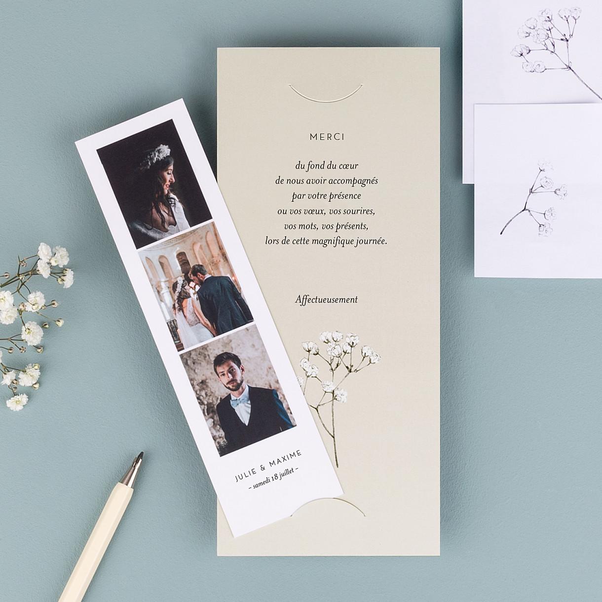 Carte De Remerciement De Mariage Rosemood