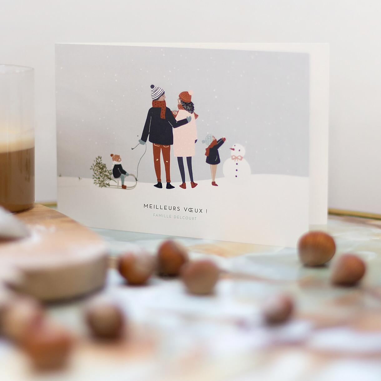 Carte de voeux winter family