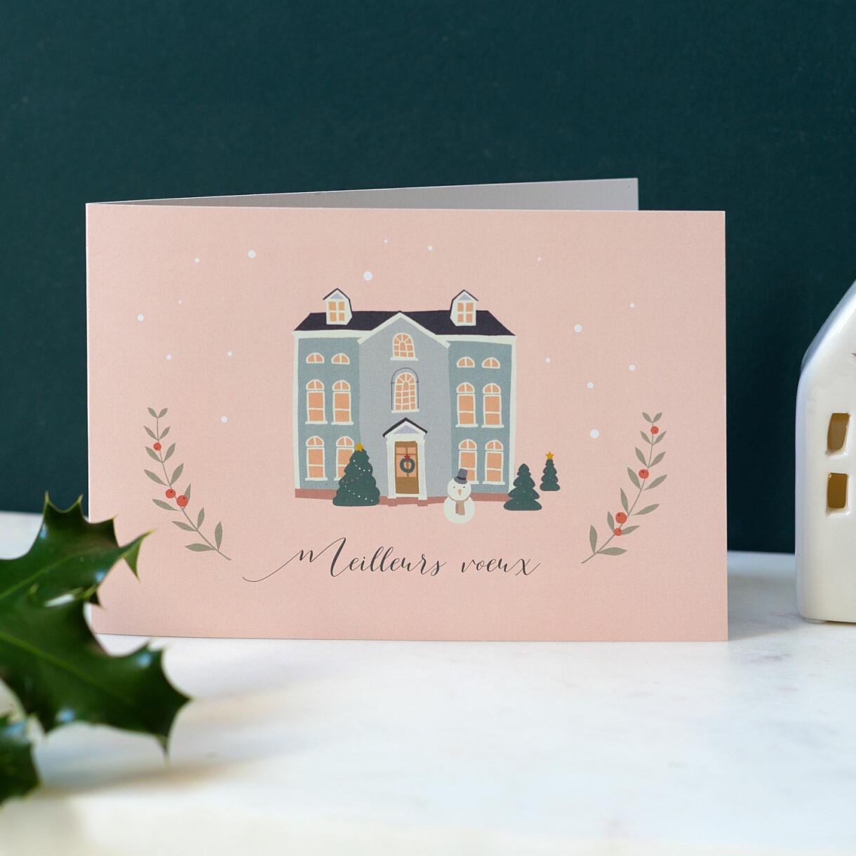 Carte de voeux cottage