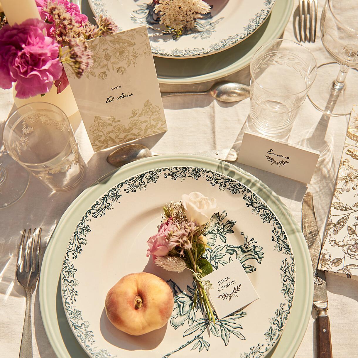 Marque-table mariage psyché