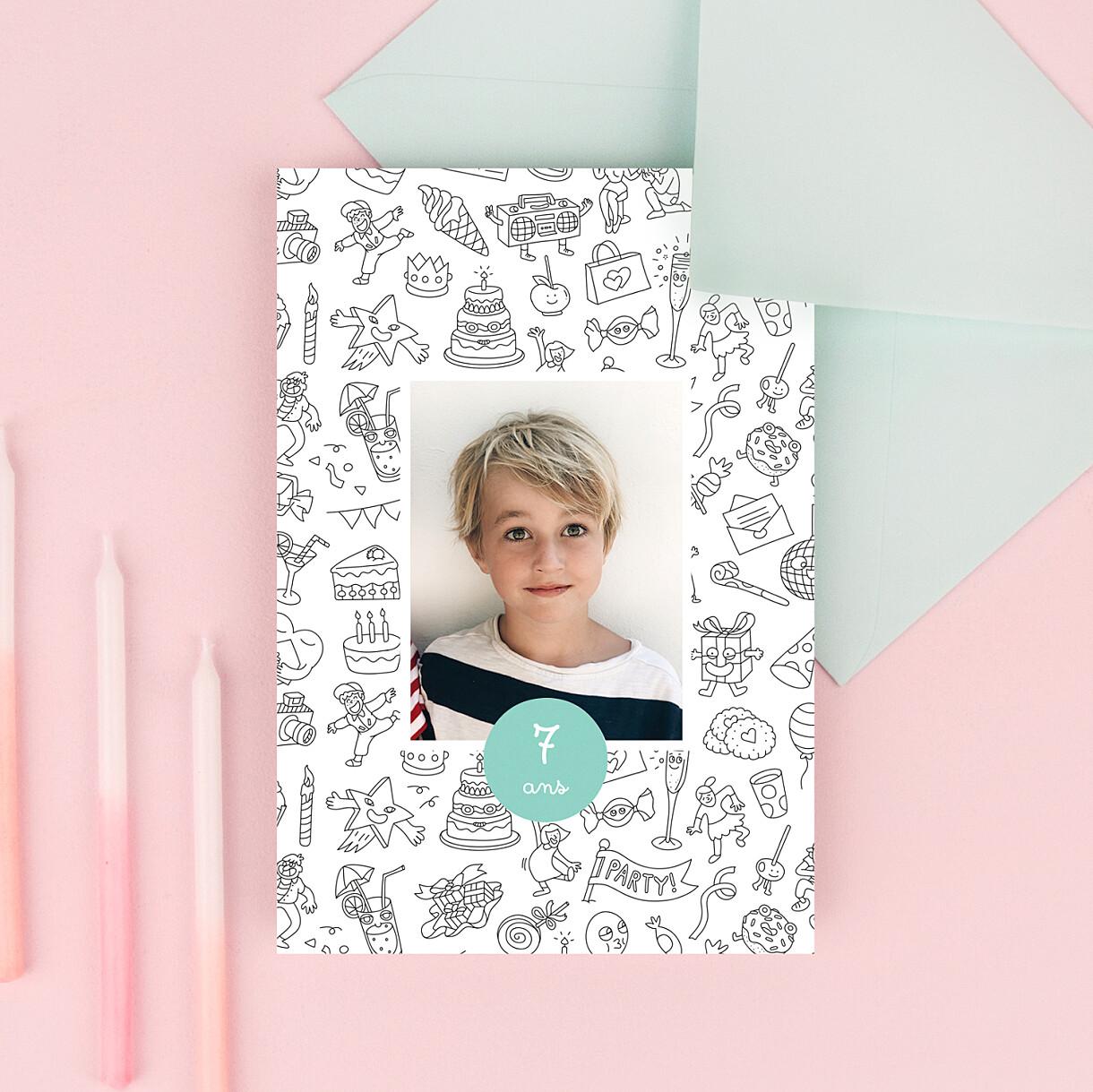 Carte d'anniversaire à colorier ! by omy